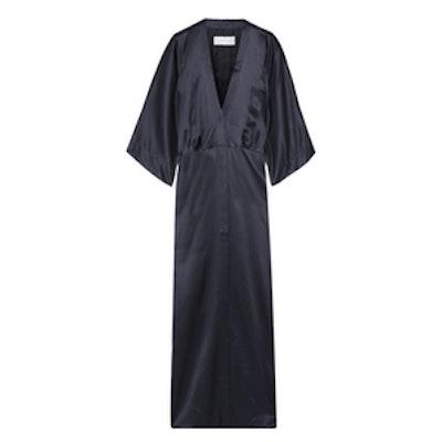 Silk-Satin Kimono Jacket
