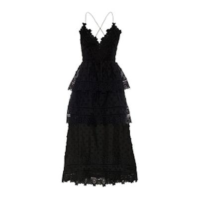 Tiered Lace Midi Dress