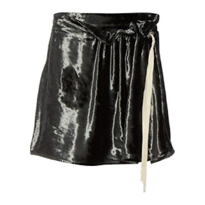 Lucinda Velvet Mini Skirt