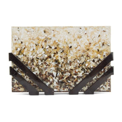 Ombre Shell Resin Kent Clutch