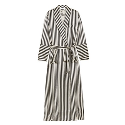 Striped Silk-Satin Robe