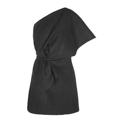 One-Shoulder Ruffled Mini Dress