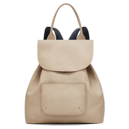 Pebbled Leather Backpack