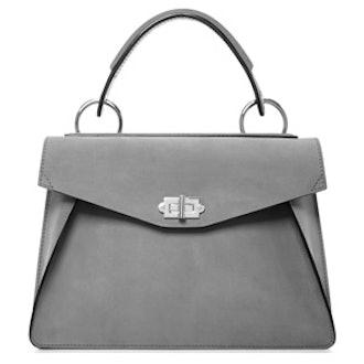 Hava Suede Top Handle Bag