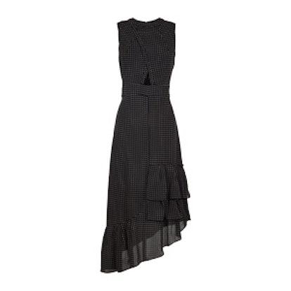 Estrella Printed Cut Out Ruffle Dress