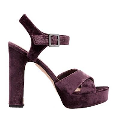 Arlene Velvet Platform Sandals