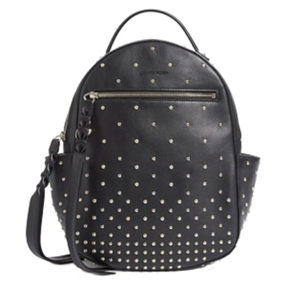 Small Studded Leather Backpack