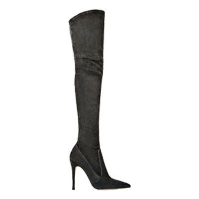 XL Leather Stiletto Heel Boots