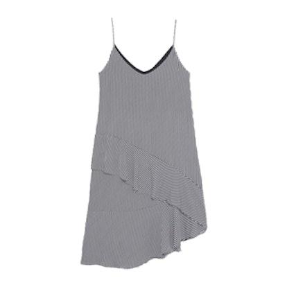 Eduina Striped Ruffle Midi Dress