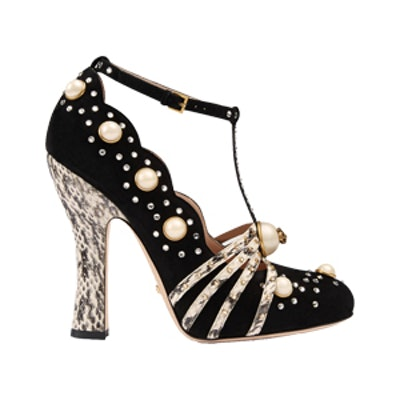 Studded Suede Pump