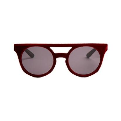 Velvet-Coated Sunglasses