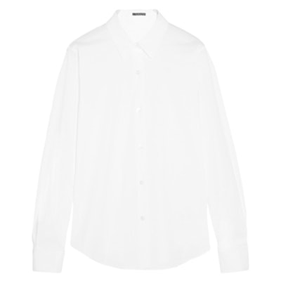 Tenia Stretch Cotton-Blend Piqué Shirt