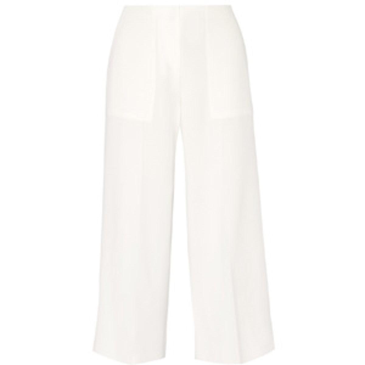 Ambrisia Cropped Crepe Wide-Leg Pants