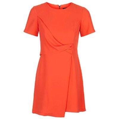Drape Front Shift Dress