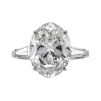 5.32ct Oval Cut Diamond Vintage Engagement Ring