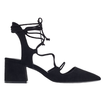 Lace-Up Pointed High Heel Shoes