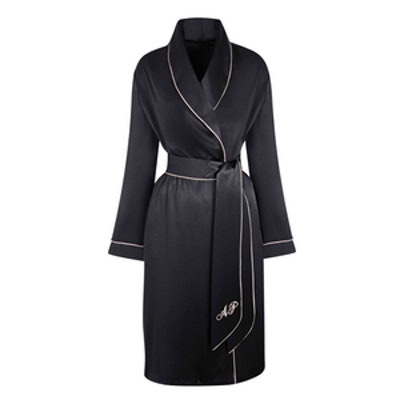 Classic Black Dressing Gown