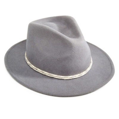 Fedora with Contrast Twist Cotton Band