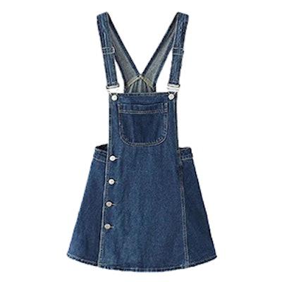 Button Overall Mini Dress