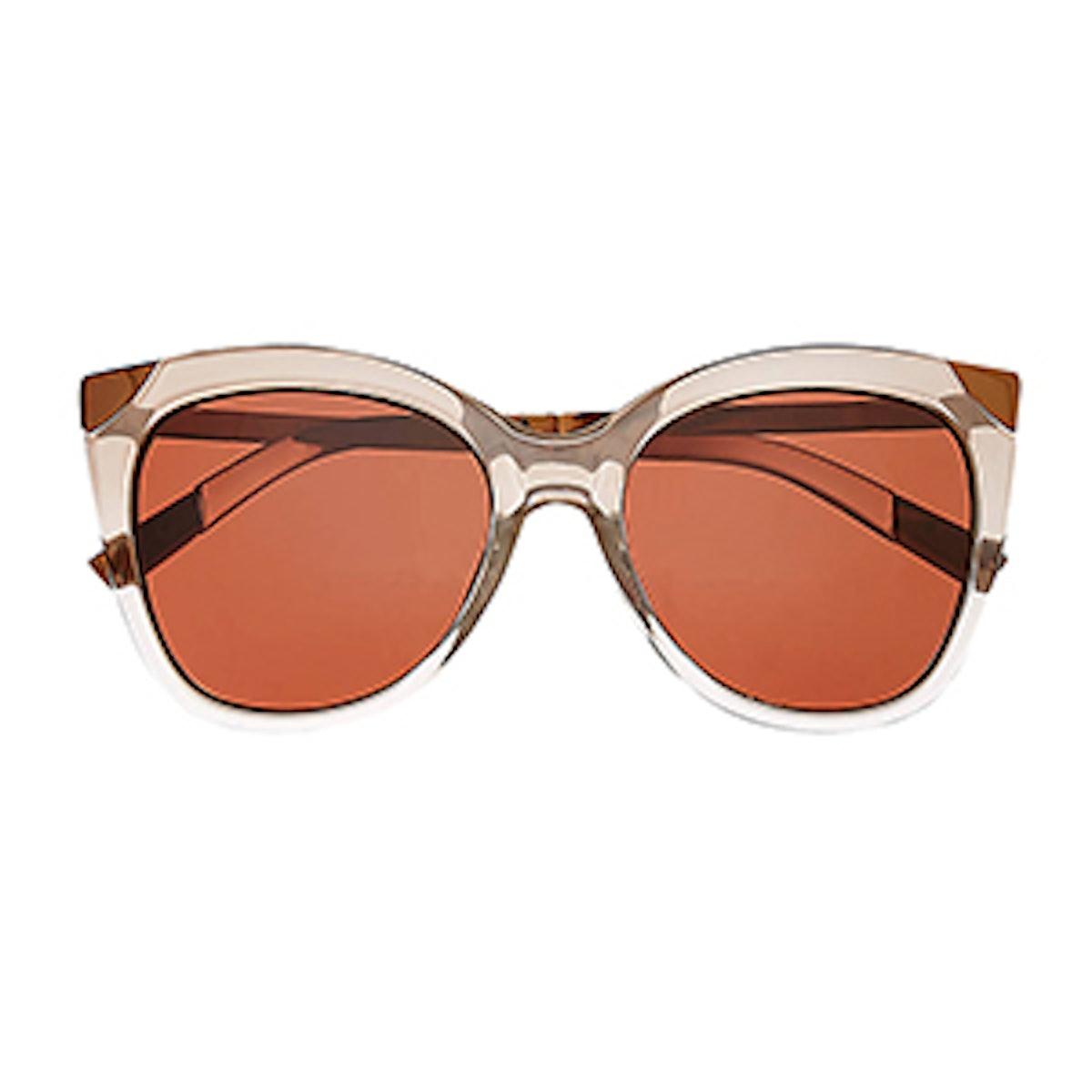 Rose Gold Cat Eye Sunglasses