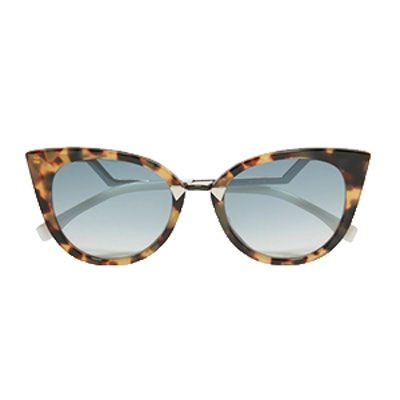 Cat-Eye Silver-Tone Sunglasses