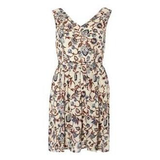 Tenki Beige Floral Skater Dress