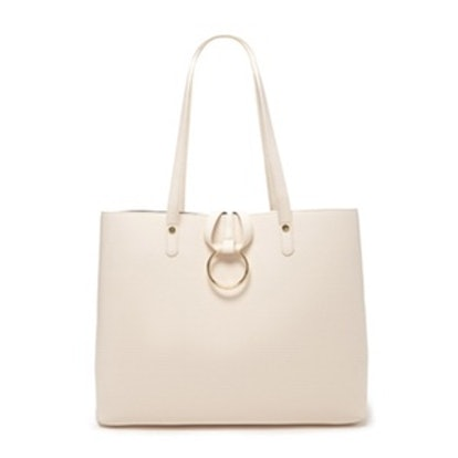 Loop Ring Faux Leather Tote