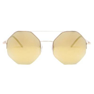 Mirrored Geo Shape Sunglasses