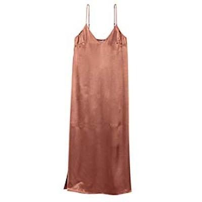 Long Satin Dress