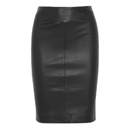 Clara Stretch-Leather Pencil Skirt