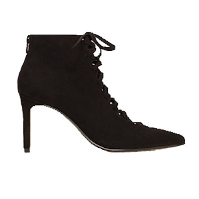 Heel Lace-Up Ankle Boots