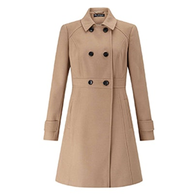 Camel Double Breasted Coat