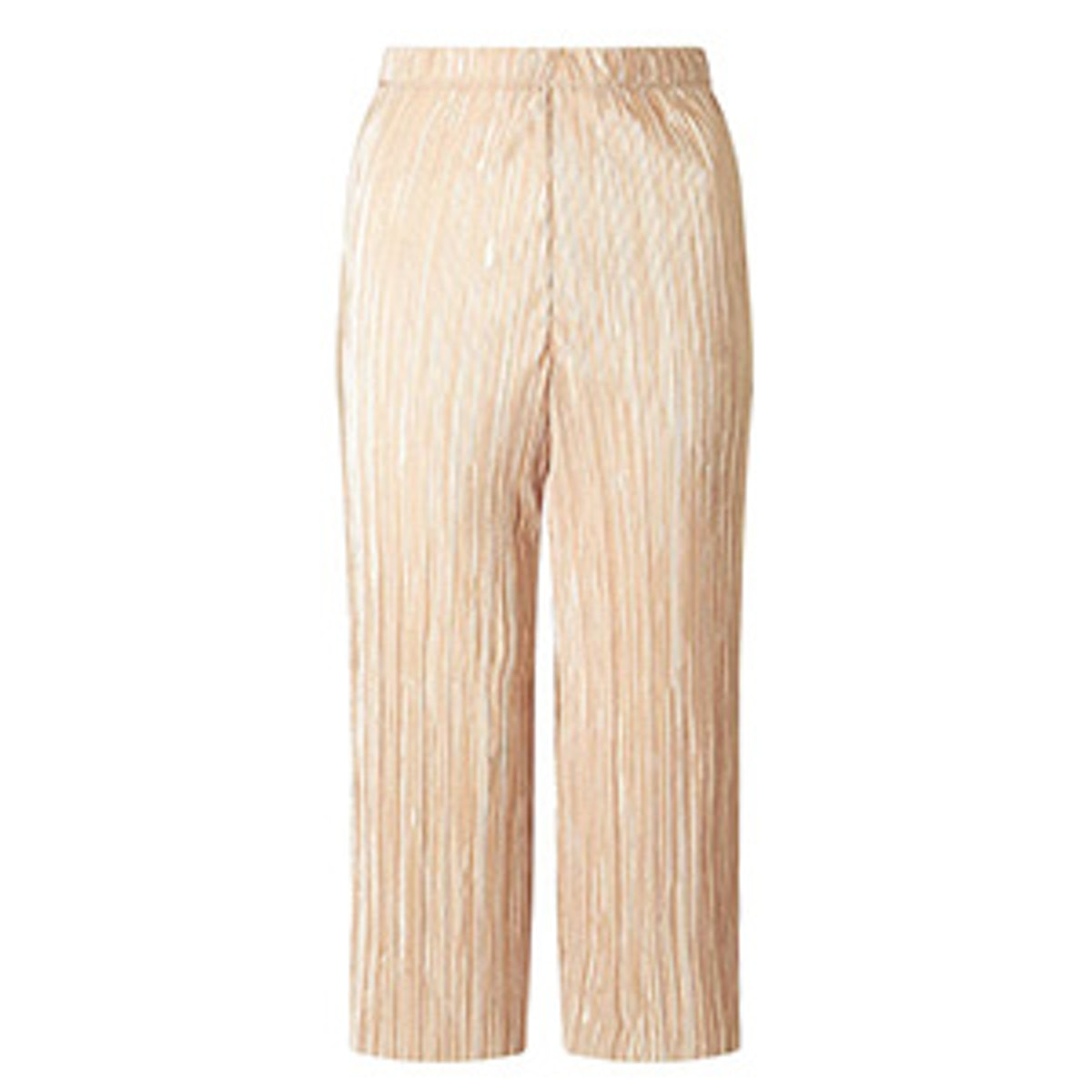 Plisse Cropped Trousers