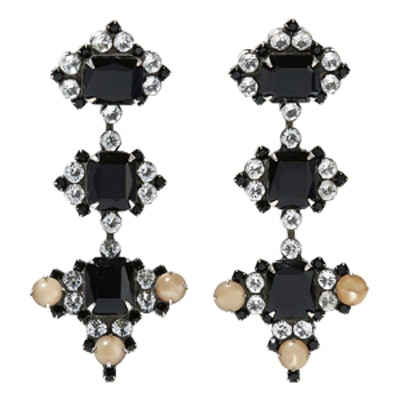 Avila Oxidized Silver-Plated Swarovski Crystal Earrings