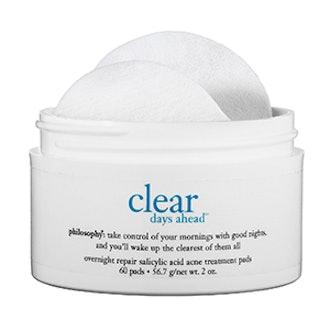 Clear Days Ahead Overnight Repair Salicylic Acid Pads