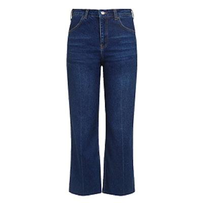 Moto Indigo Cropped Wide Jeans