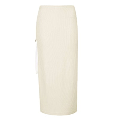 Ribbed Knit Skirt by Boutique