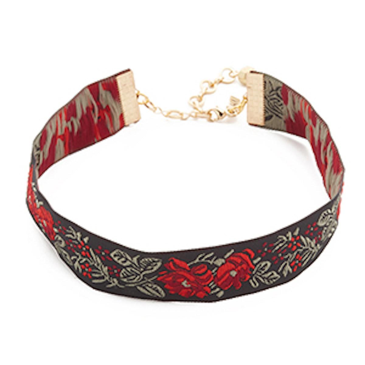Ribbon Choker Necklace