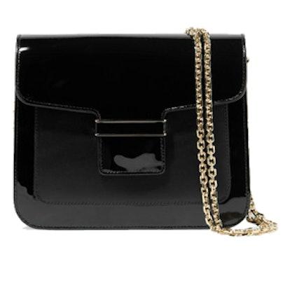 Camelia Matte and Patent-Leather Shoulder Bag