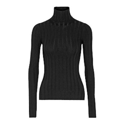 Corin Ribbed Merino Wool-Blend Turtleneck Sweater
