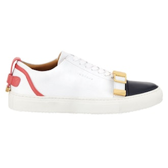 Belted-Toe Leather Sneaker