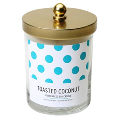 Lidded Glass Candle Toasted Coconut