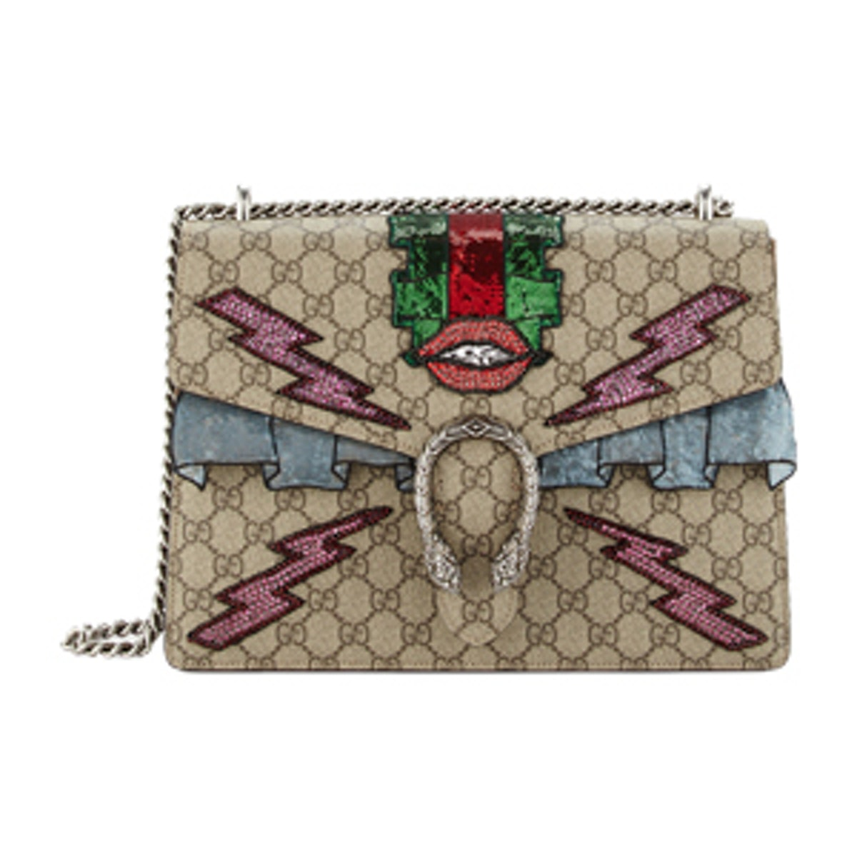 Dionysus Embroidered Supreme GG Shoulder Bag