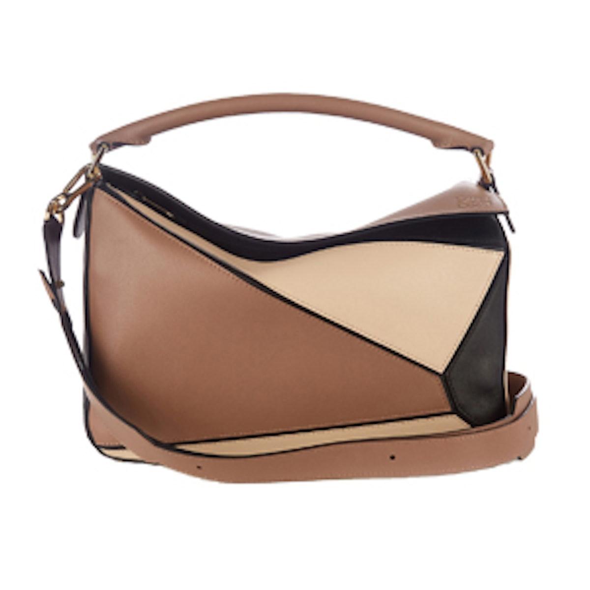 Puzzle Tri-Colour Leather Bag