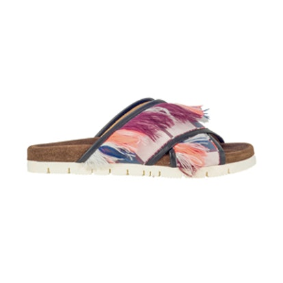 Multicolor Fabric Sandals