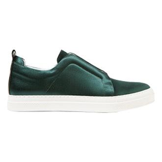 Slider Satin Slip-On Sneakers