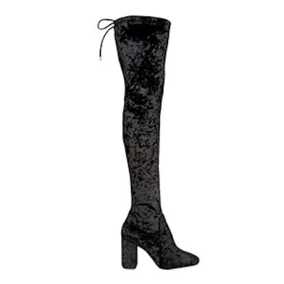 Flare Heel Over The Knee Boot