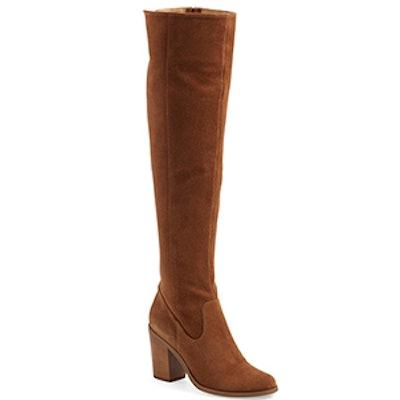 Eternul Over The Knee Block Heel Boot