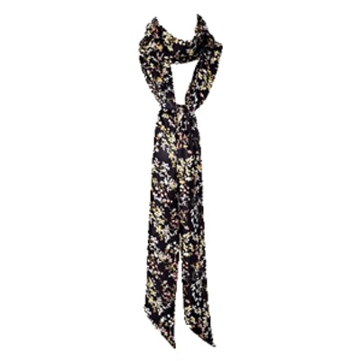 Women's Scarf Black Floral