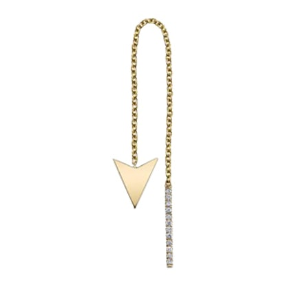 Triangle Threader with Pave Diamonds